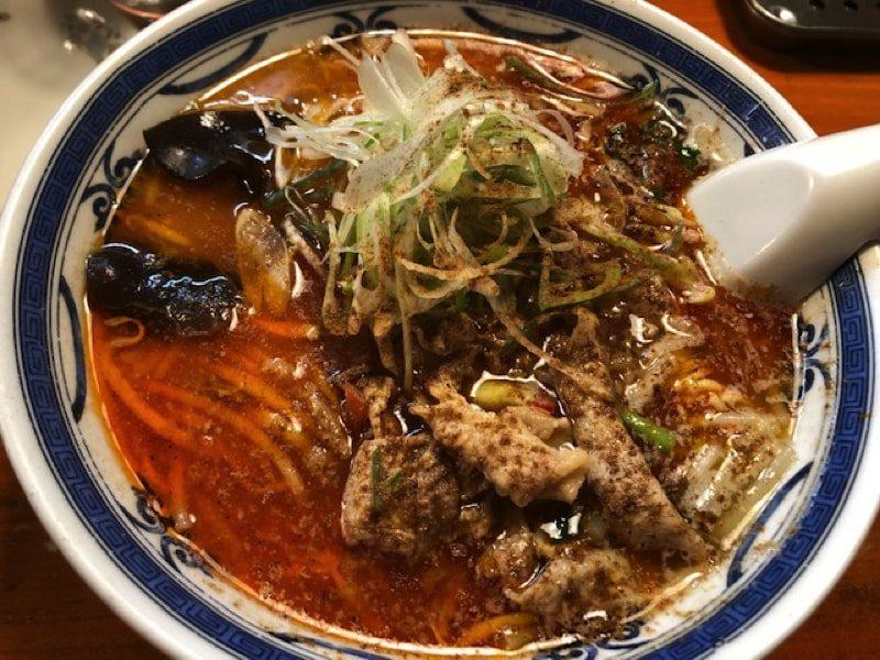 ラーメン・餃子・ハナウタの薬膳味噌ラーメン大辛