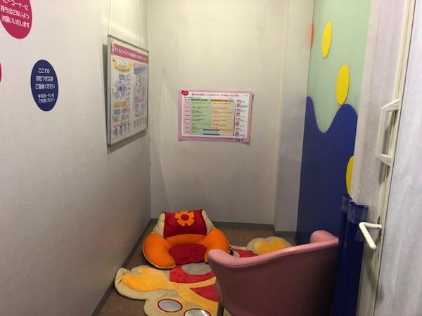 札幌ドームキッズパークの授乳室の様子