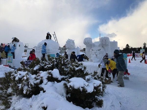 さっぽろ雪まつりつどーむ会場の雪像
