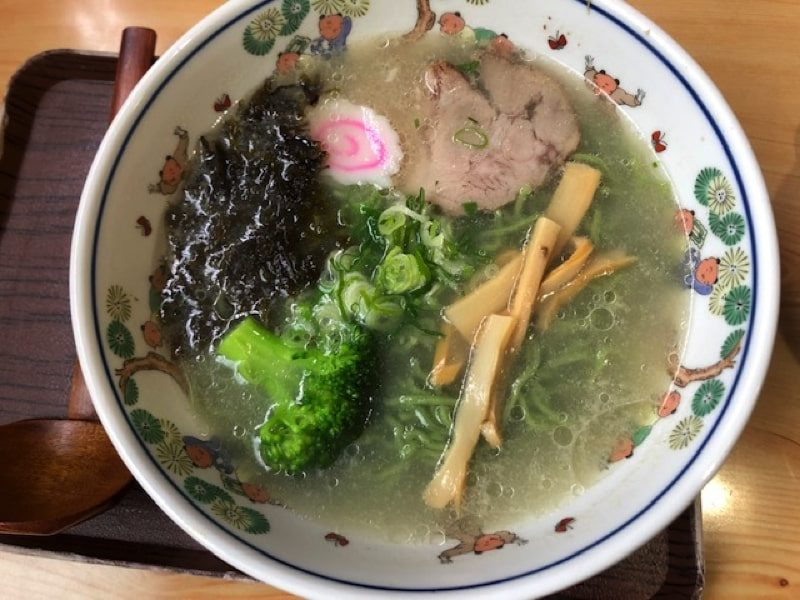 寿司処家紋のブロッコリーラーメン