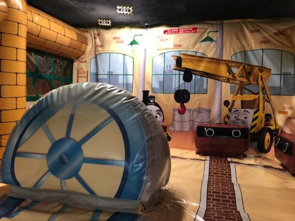 札幌のトーマスステーションのふわふわ遊具