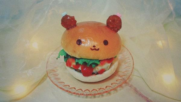喫茶フルーッのハンバーガー